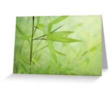 Bambou Jardin Greeting Card