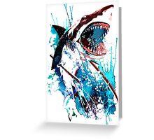 Samurai Shark Greeting Card