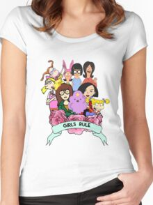 Girls Rule Women's Fitted Scoop T-Shirt
