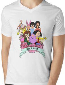 Girls Rule Mens V-Neck T-Shirt
