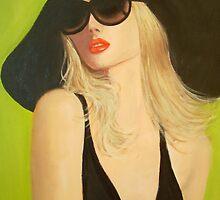 LADY IN A BLACK HAT by Dian Bernardo