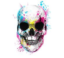 CMYK Skull Photographic Print