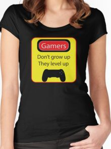 Gamers don't grow up Women's Fitted Scoop T-Shirt
