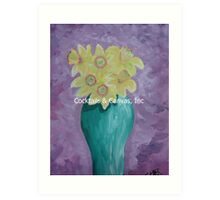 Beautiful Yellow Vase of Daffodils Art Print