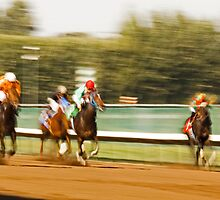 A Speeding Blur of Race Horses by Buckwhite