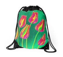 flowers Drawstring Bag