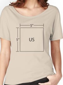 We're Five by Five (Black) Women's Relaxed Fit T-Shirt