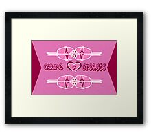 Care 4 Breasts Framed Print