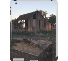 Distressed wooden barn watching the sun go down  iPad Case/Skin