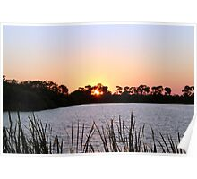 Sun Set By The Lake Poster