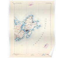 Massachusetts  USGS Historical Topo Map MA Gloucester 352702 1893 62500 Poster