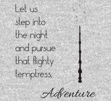 That flighty temptress, adventure (black) Kids Clothes