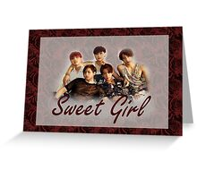 B1A4 Sweet Girl Greeting Card