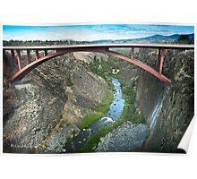 Crooked River Gorge Bridge Poster