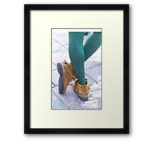 Peter Pan's Kicks Framed Print