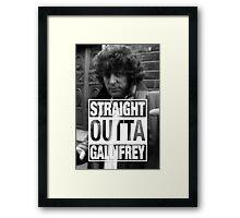 Straight Outta Gallifrey- BAKER Framed Print