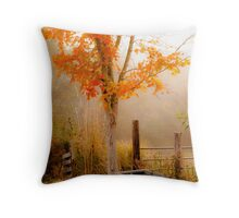 Burst of Orange Throw Pillow