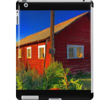 Bright red barn with rusty tin roof iPad Case/Skin