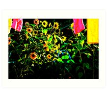 A Sunny Day in the Garden Art Print