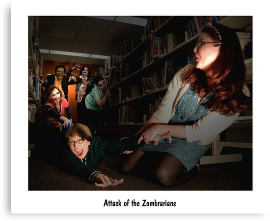 Attack of the zombrarians by SALIN