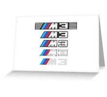 BMW M3 logo with grill Greeting Card