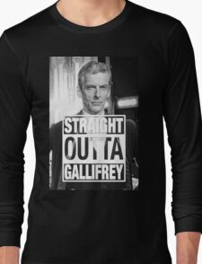 Straight Outta Gallifrey- CAPALDI Long Sleeve T-Shirt