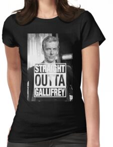 Straight Outta Gallifrey- CAPALDI Womens Fitted T-Shirt