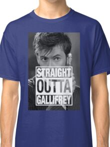 Straight Outta Gallifrey- TENNANT Classic T-Shirt