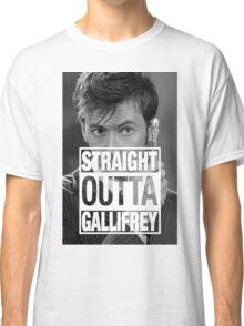 Straight Outta Gallifrey- TENNANT Classic T-Shirt
