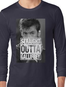 Straight Outta Gallifrey- TENNANT Long Sleeve T-Shirt