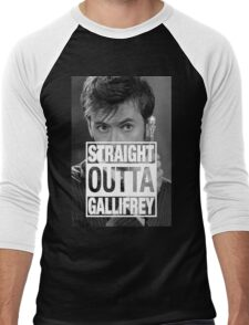 Straight Outta Gallifrey- TENNANT Men's Baseball ¾ T-Shirt
