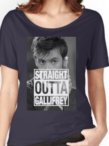 Straight Outta Gallifrey- TENNANT Women's Relaxed Fit T-Shirt