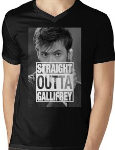 Straight Outta Gallifrey- TENNANT Mens V-Neck T-Shirt