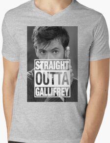 Straight Outta Gallifrey- TENNANT Mens V-Neck T-Shirt