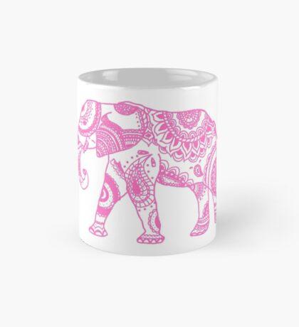 Patterned Elephant - Pink Mug