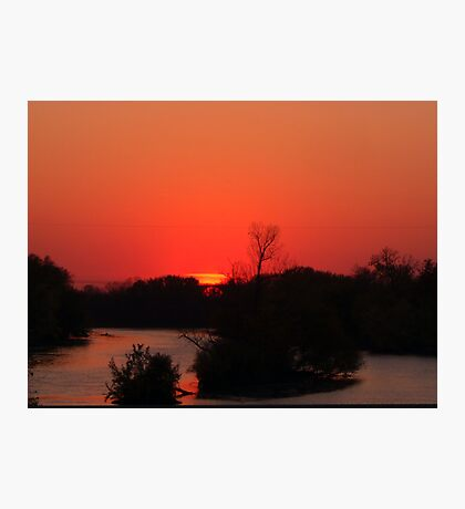 Sunset on the Fox River Photographic Print