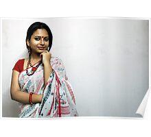 Bengali Beauty in sari  Poster