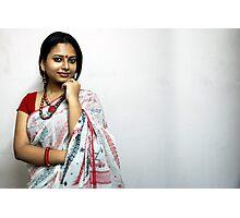 Bengali Beauty in sari  Photographic Print