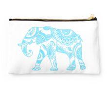 Printed Elephant - Blue Studio Pouch