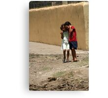 girls in the streets of Hato de  Canvas Print