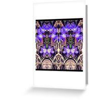Crocus Symmetry  Greeting Card