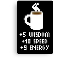 8-Bit Cofee Gear Canvas Print