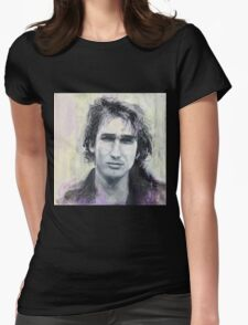 Jeff Buckley Portrait by William Wright Womens Fitted T-Shirt