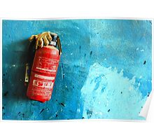 In Case Of Emergency Remove Glove Poster