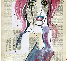 Lady in Violet by artbycass