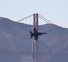 Buzz over the Golden Gate by fototaker