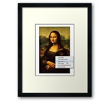 Save Mona Lisa As... Framed Print