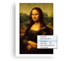 Save Mona Lisa As... Canvas Print