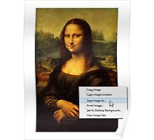 Save Mona Lisa As... Poster