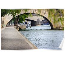 Arches on the river Seine Poster